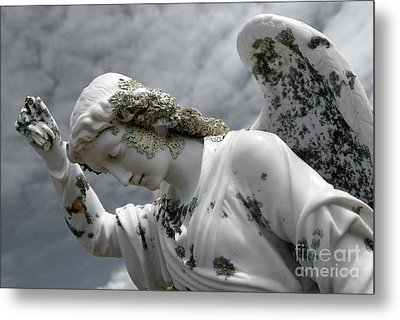 Grieving Angel Metal Print