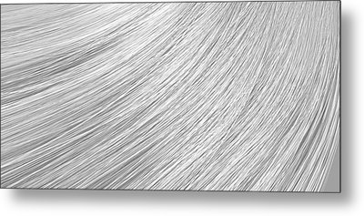 Hair Blowing Closeup Metal Print by Allan Swart