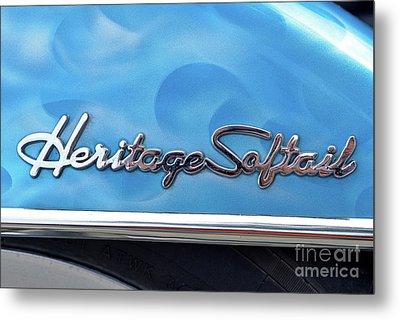 Harley-davidson Heritage Softail Badge Metal Print by George Atsametakis