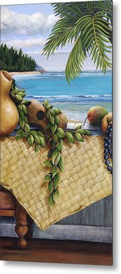 Hawaiian Still Life Panel Metal Print by Sandra Blazel - Printscapes