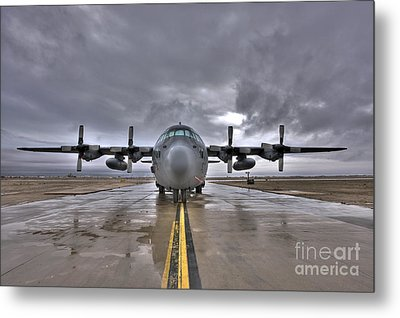 High Dynamic Range Image Of A U.s. Air Metal Print by Terry Moore