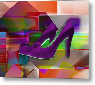 High Heel Shoes Metal Print
