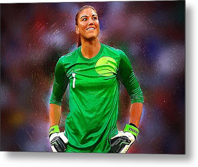 Hope Solo Metal Print by Semih Yurdabak