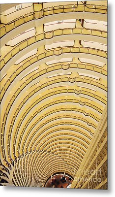 Hotel Atrium In The Jin Mao Tower Metal Print by Jeremy Woodhouse