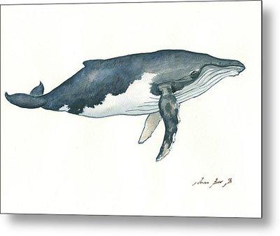 Humpback Whale Metal Print by Juan Bosco