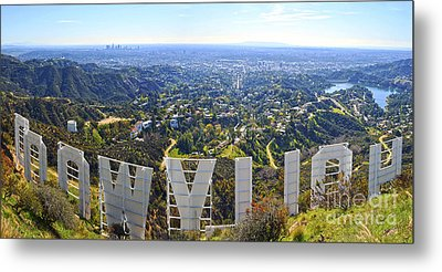 Iconic Hollywood  Metal Print