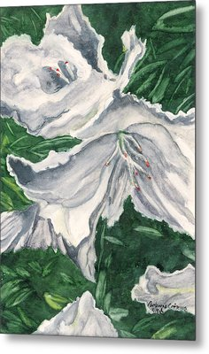 Metal Print featuring the painting Impression Of Azaleas  by Antonia Citrino