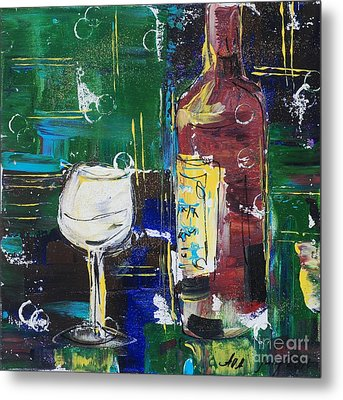 In Vino Veritas. Wine Collection 12 Metal Print
