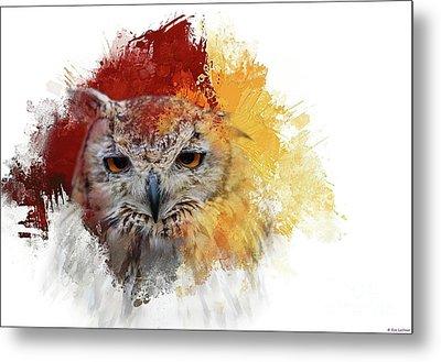 Indian Eagle-owl Metal Print