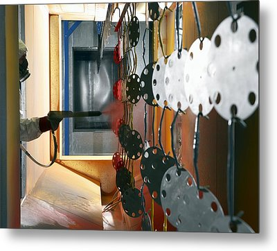 Industrial Powder Coating Metal Print by Mark Sykes