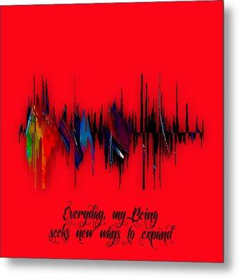 Inspirational Soundwave Message Metal Print