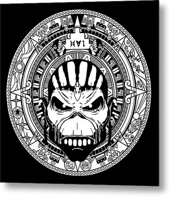 Iron Maiden Metal Print by Caio Caldas
