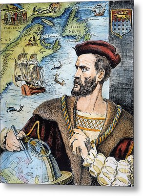 Jacques Cartier (1491-1557) Metal Print by Granger