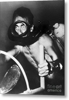 Jacques Cousteau (1910-1997) Metal Print by Granger