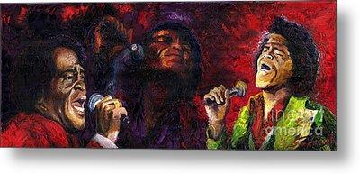Jazz James Brown Metal Print by Yuriy  Shevchuk