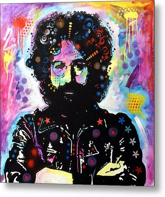 Metal Print featuring the painting Jerry Garcia by Dean Russo