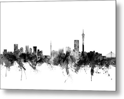 Johannesburg South Africa Skyline Metal Print by Michael Tompsett