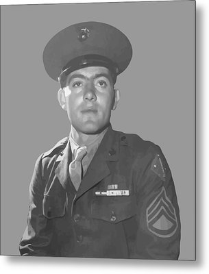 John Basilone Metal Print by War Is Hell Store