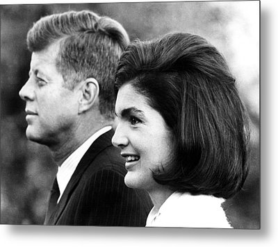 John F. Kennedy And Jacqueline Kennedy Metal Print