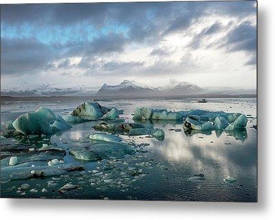 Metal Print featuring the photograph Jokulsarlon, The Glacier Lagoon, Iceland 3 by Dubi Roman