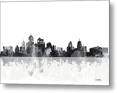 Kansas City Missouri Skyline Metal Print