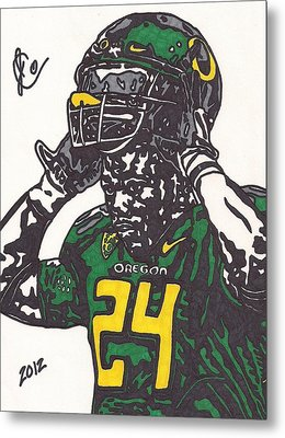 Metal Print featuring the drawing Kenjon Barner 1 by Jeremiah Colley