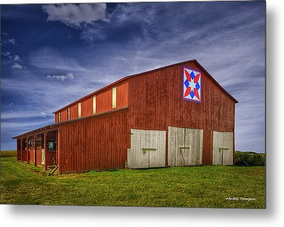 Kentucky Quilt Barn Metal Print by Wendell Thompson