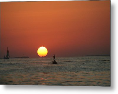 Key West Sunset Metal Print by Randy Morehouse