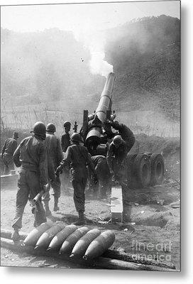 Korean War: Artillery Metal Print by Granger