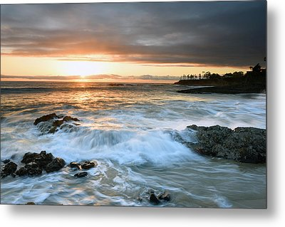 Metal Print featuring the photograph Laguna Beach Sunset by Dung Ma