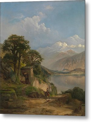 Lake Como Metal Print by Thomas Moran