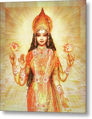 Lakshmi The Goddess Of Fortune And Abundance Metal Print