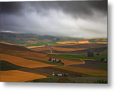 Landscape Near Torre Alhaquime, Cadiz Metal Print by Panoramic Images