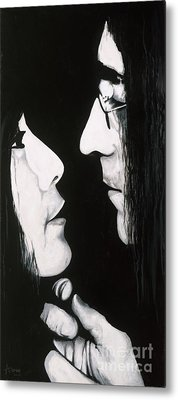 Lennon And Yoko Metal Print by Ashley Price
