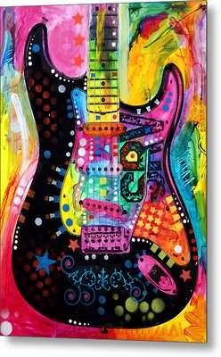 Metal Print featuring the painting Lenny Strat by Dean Russo