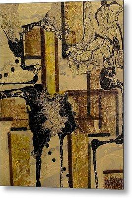 2 Level Painting Metal Print by Evguenia Men