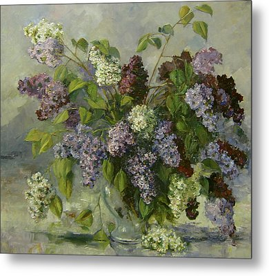 Metal Print featuring the painting Lilacs by Tigran Ghulyan