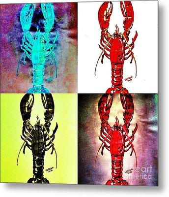 Lobster Quilt Metal Print by Scott D Van Osdol