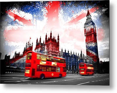 London  Metal Print by Mark Ashkenazi