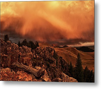 Lost River Sunset Metal Print by Leland D Howard
