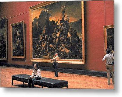 Louvre Museum In Paris Metal Print by Carl Purcell