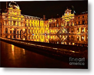 Metal Print featuring the photograph Louvre Pyramid by Danica Radman