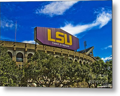 Lsu Tiger Stadium Metal Print by Scott Pellegrin