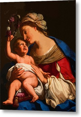 Madonna And Child Metal Print by Christian Art