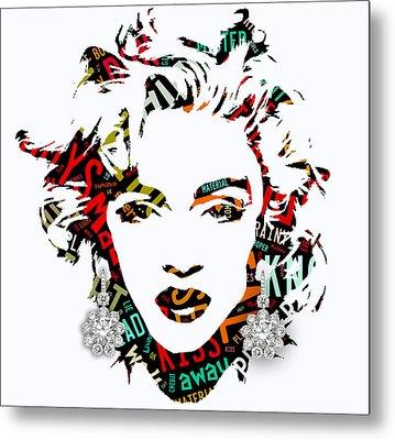 Madonna Material Girl Song Lyrics Metal Print by Marvin Blaine
