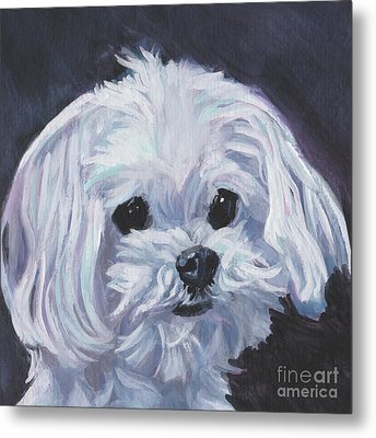 Metal Print featuring the painting Maltese by Lee Ann Shepard