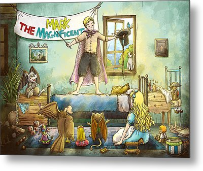 Mark The Magnificent Metal Print