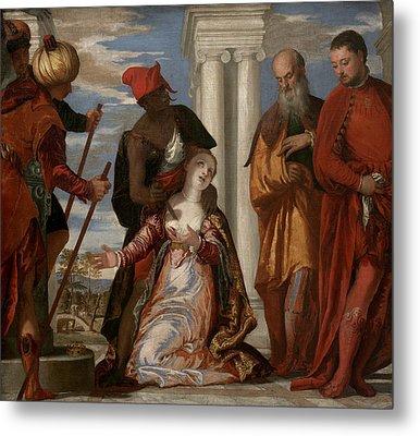 Martyrdom Of Saint Justina Metal Print by Paolo Veronese