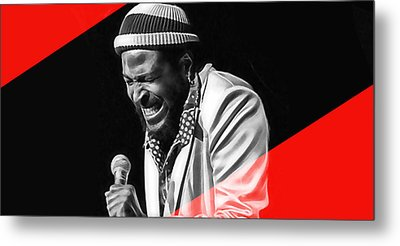 Marvin Gaye Collection Metal Print by Marvin Blaine