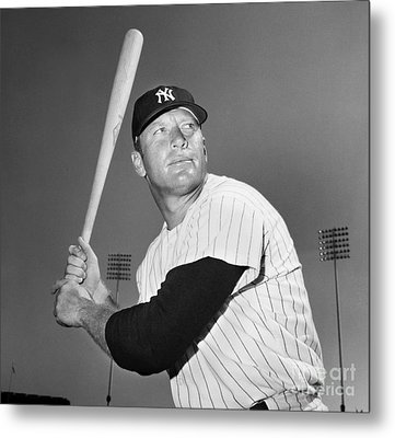 Mickey Mantle (1931-1995) Metal Print by Granger